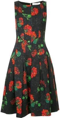Oscar de la Renta Geranium cloqué dress