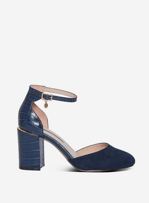 Dorothy Perkins Womens Wide Fit Navy 'Debs' Court Shoes