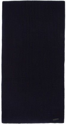 BOSS Navy Gianto Beanie and Scarf Set