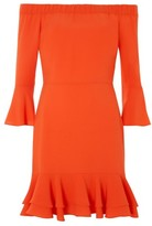 Topshop Women's Off The Shoulder Ruffle Dress