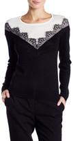Vince Camuto Lace Colorblock Sweater