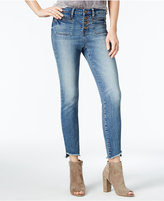 William Rast Frayed Genuine Indigo Wash Ankle Jeans