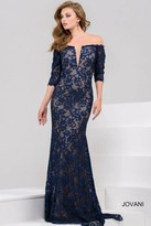 Jovani Fitted Long Gown in Deep V-Neckline 28131