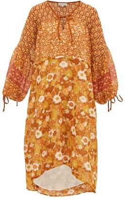 D'Ascoli Fernanda Floral-print Cotton Dress - Orange Print