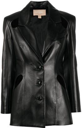 MATÉRIEL Cut-Out Leather Jacket