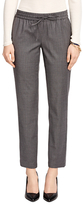 Brooks Brothers Wool Blend Pinstripe Drawstring Pants