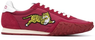 Kenzo Tiger Applique Low-Top Sneakers