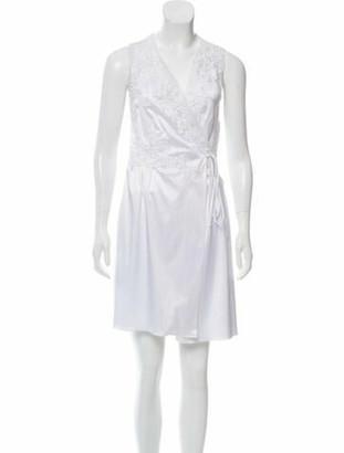 Oscar de la Renta Silk Mini Dress w/ Tags White