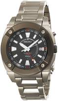 Seiko Men's SUN005 Kinetic GMT Silver-Tone Watch