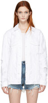 Alexander Wang White Denim Scratch Daze Jacket