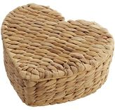 Pier 1 Imports Natual Wicker Petite Heart Box