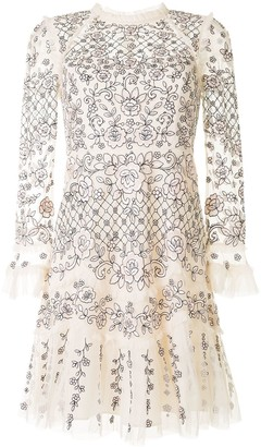 Needle & Thread Floral Embroidered Layered Style Dress