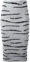 Zoe Karssen tiger print pencil skirt