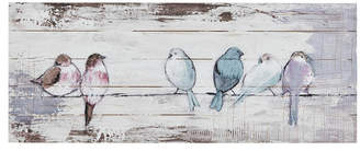 Madison Home USA Perched Birds Hand Painted Wood Plank