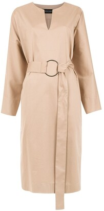 Gloria Coelho Belted Midi Dress