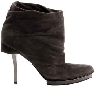 Gucci \N Grey Suede Ankle boots