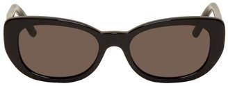 Saint Laurent Black Oval Betty Sunglasses