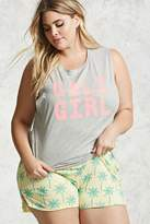 Forever 21 Plus Size Cali Girl Pajama Set