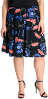 Large Floral Full Pleat Skirt