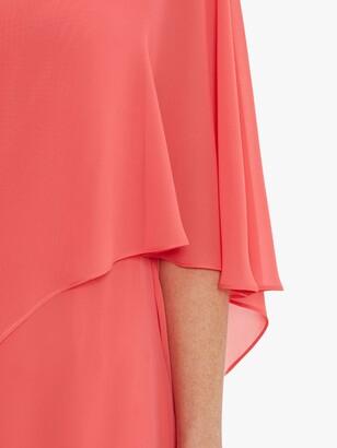 Gina Bacconi Lariah Chiffon Overlay Shift Dress