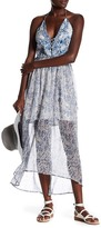 Gypsy 05 Gypsy05 Lace Detail Embroidered Halter Maxi Dress
