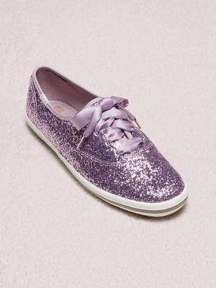 Kate Spade keds x new york champion glitter sneakers