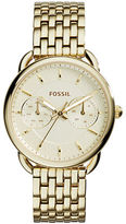 Fossil Tailor Goldtone Stainless Steel Bracelet Watch