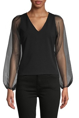 Love...Ady Sheer-Sleeve Top