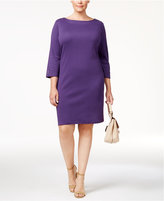 Karen Scott Plus Size Cotton Button-Detail Shift Dress, Only at Macy's