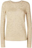 MICHAEL Michael Kors metallic jacquard jumper - women - Nylon/Polyester/Viscose/Metallic Fibre - L