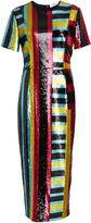 Diane von Furstenberg Saxon Stripe Sequin Dress