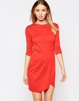 Club L Essentials Dress With Asymmetric Wrap Front