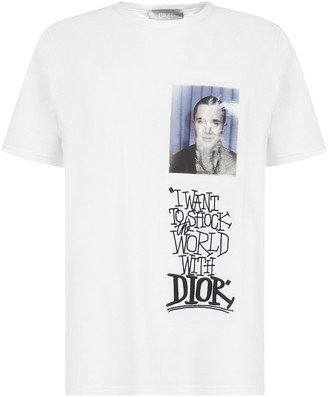 Christian Dior X Shawn Stussy Graphic Printed T-Shirt