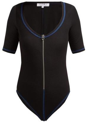 Proenza Schouler White Label Scoop-neck Stretch-jersey Bodysuit - Black Multi