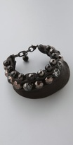 Acb By Annie Costello Brown Side Stitch Bracelet