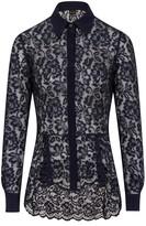 Sophie Cameron Davies Midnight Blue Lace Shirt