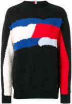 Tommy Hilfiger crew neck motif jumper