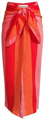 Mara Hoffman Izzi Striped Linen Cover-Up Skirt