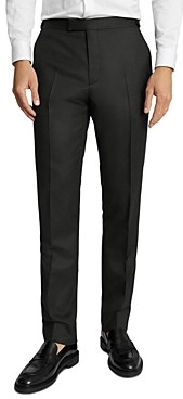 Reiss Valley Solid Flannel Slim Fit Suit Pants