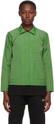 Stussy Green Chore Shirt Jacket