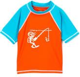 Nano Orange & Teal Scuba Rashguard - Toddler
