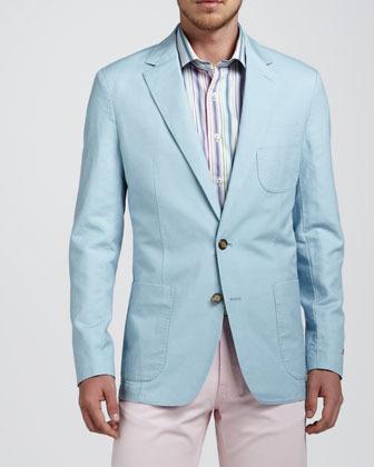 Peter Millar Soft Cotton-Linen Blazer