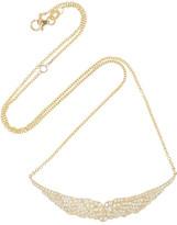 Anita Ko Crested Wing 18-karat gold diamond necklace