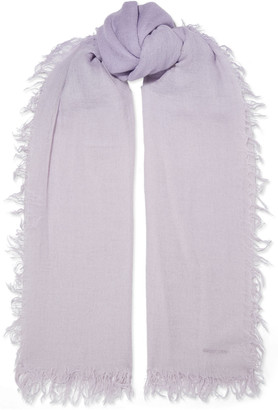 Chan Luu Frayed Degrade Cashmere And Silk-blend Gauze Scarf