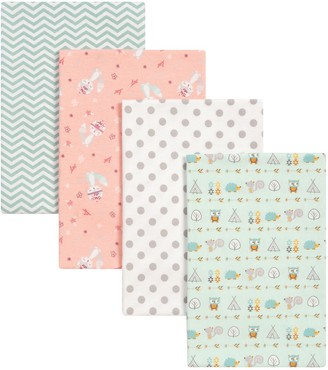 Trend Lab 4-pk. Southwest Patterned Flannel Swaddle Blankets