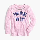 "J.Crew Girls' ""you make my day"" necklace T-shirt"