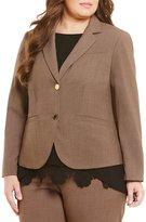 Calvin Klein Plus 2 Button Luxe Notch Collar Jacket