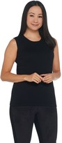 Joan Rivers Classics Collection Joan Rivers Wardrobe Builders Crew Neck Sleeveless Sweater