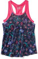 Old Navy 2-in-1 Printed Performance Tank for Girls