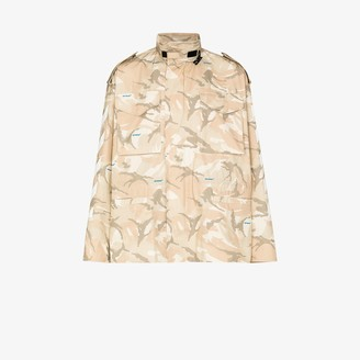 Off-White Camouflage-Print Military Jacket
